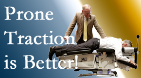 Manchester spinal traction applied lying face down – prone – is best according to the latest research. Visit Manchester Chiropractic & Sports Injuries.