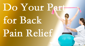 Manchester Chiropractic & Sports Injuries calls on back pain sufferers to participate in their own back pain relief recovery.