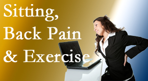 Manchester Chiropractic & Sports Injuries urges less sitting and more exercising to combat back pain and other pain issues.