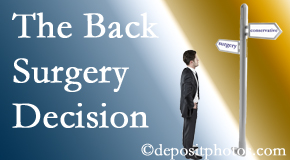 Manchester back surgery for a disc herniation is an option to be carefully studied before a decision is made to proceed.
