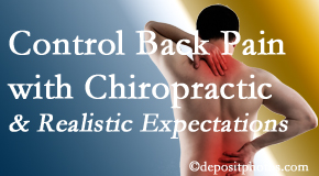 Manchester Chiropractic & Sports Injuries helps patients set realistic goals and find some control of their back pain and neck pain so it doesn't necessarily control them.