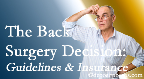 Manchester Chiropractic & Sports Injuries realizes that back pain sufferers may choose their back pain treatment option based on insurance coverage. If insurance pays for back surgery, will you choose that?