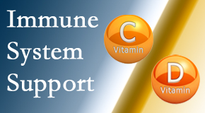 Manchester Chiropractic & Sports Injuries presents details about the benefits of vitamins C and D for the immune system to fight infection.