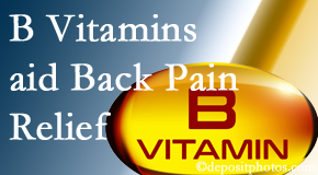 Manchester Chiropractic & Sports Injuries may include B vitamins in the Manchester chiropractic treatment plan of back pain sufferers.