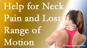 Manchester Chiropractic & Sports Injuries helps neck pain patients with limited spinal range of motion find relief of pain and restored motion.
