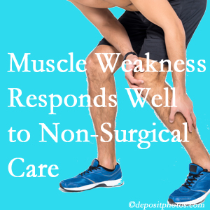Manchester chiropractic non-surgical care manytimes improves muscle weakness in back and leg pain patients.
