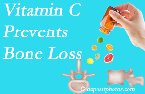 Manchester Chiropractic & Sports Injuries may recommend vitamin C to patients at risk of bone loss as it helps prevent bone loss.