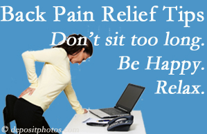 Manchester Chiropractic & Sports Injuries reminds you to not sit too long to keep back pain at bay!