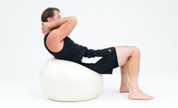 abdominal exercise on ball to improve posture