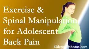 Manchester Chiropractic & Sports Injuries uses Manchester chiropractic and exercise to help back pain in adolescents.