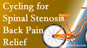 Manchester Chiropractic & Sports Injuries encourages exercise like cycling for back pain relief from lumbar spine stenosis.