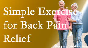 Manchester Chiropractic & Sports Injuries encourages simple exercise as part of the Manchester chiropractic back pain relief plan.