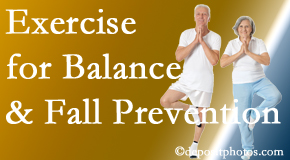 Manchester chiropractic care of balance for fall prevention involves stabilizing and proprioceptive exercise.
