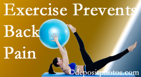 Manchester Chiropractic & Sports Injuries encourages Manchester back pain prevention with exercise.