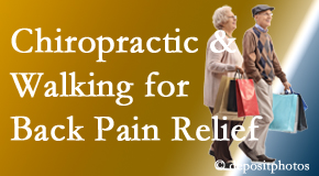 Manchester Chiropractic & Sports Injuries encourages walking for back pain relief in combination with chiropractic treatment to maximize distance walked.