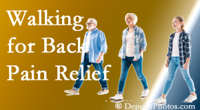 Manchester Chiropractic & Sports Injuries often recommends walking for Manchester back pain sufferers.