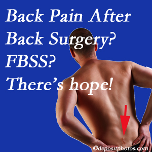 Manchester chiropractic care offers a treatment plan for relieving post-back surgery continued pain (FBSS or failed back surgery syndrome).