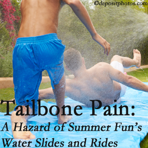 Manchester Chiropractic & Sports Injuries uses chiropractic manipulation to ease tailbone pain after a Manchester water ride or water slide injury to the coccyx.