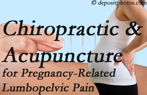 Manchester chiropractic and acupuncture may help pregnancy-related back pain and lumbopelvic pain.