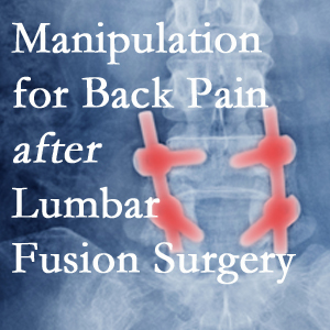 Manchester chiropractic spinal manipulation helps post-surgical continued back pain patients discover relief of their pain despite fusion.