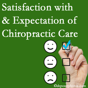 Manchester chiropractic care delivers patient satisfaction and meets patient expectations of pain relief.