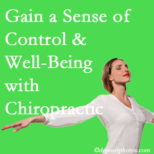 Using Manchester chiropractic care as one complementary health alternative boosted patients sense of well-being and control of their health.