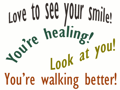 Use positive words to support your Manchester loved one as he/she gets chiropractic care for relief.