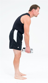 standing bending weighted